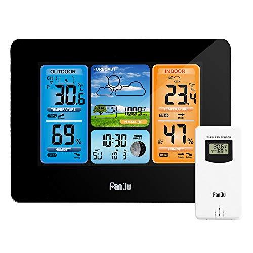 Estación meteorológica Barómetro Higrómetro Termómetro Inalámbrico Sensor LCD Pantalla meteorológica...