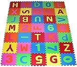 PRINZBERT Buchstaben Puzzlematte 36 Matten 86-tlg. Puzzleteppich Kinder Spielmatte Spielteppich Schaumstoffmatte