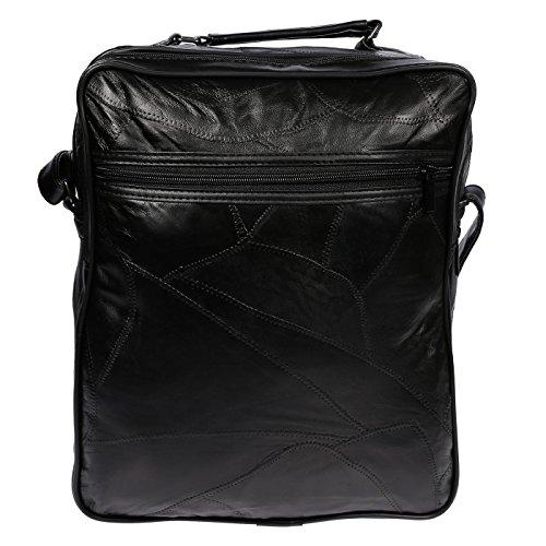 Christian Wippermann®, Borsa a spalla uomo grigio modello 2 24 x 27 x 14 cm modello 2