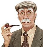 Panelize® Komplettset Alter Mann Opa Schnautzer Schnurrbart Augenbrauen Nasenhaare und Ohren Haare Set