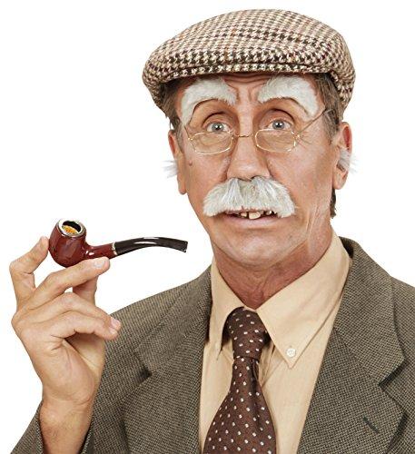 Panelize® Komplettset Alter Mann Opa Schnautzer Schnurrbart Augenbrauen Nasenhaare und Ohren Haare (Haar Alter Mann)