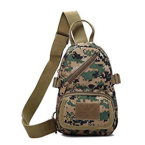 emansmoer Camo Armee Brusttasche Sling Bag Umhängetasche Crossbody Rucksack Outdoor Schultertasche Casual Daypack (Camo) Camo