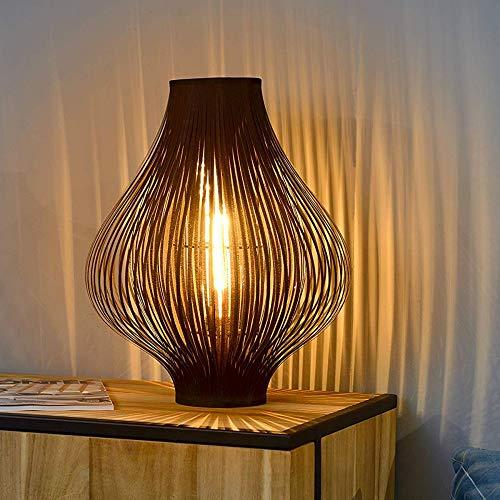 Stehlampe - Metall und Stofflamellen - Farbe SCHWARZ - Metall-lamelle