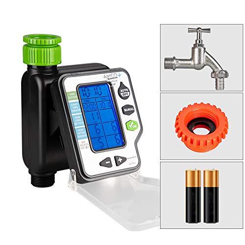 Smart Water Timer, Schlaucharmatur Dual Station Control, automatische Bewässerungsvorrichtung Spray, für Outdoor-Gartenschlauch,C -