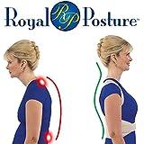 Royal Posture - Correcteur de posture, supporte et soutient ! Corrige rapidement la posture de vos lombaires et des épaules. Bande de correction thérapeutique de posture aux niveaux des lombaires et des épaules pour combattre le dos courbé, les douleurs lombaires et cervicales - unisexe - taille L à XL.