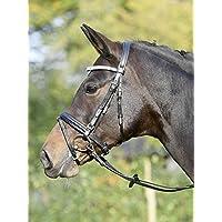 Busse Bocado Fashion Pony Negro/cristal de color azul de plata