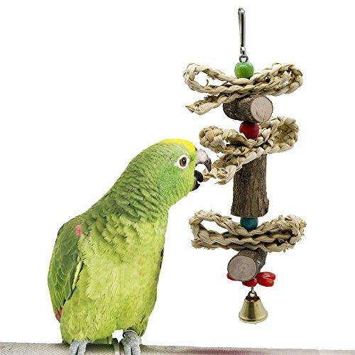 Pet Toys Vogel kauen Spielzeug, Papagei Käfig beißen Spielzeug Papagei liefert Vogel Spielzeug Belted Log Corn Husk Twist Interaktives ungiftiges Material -