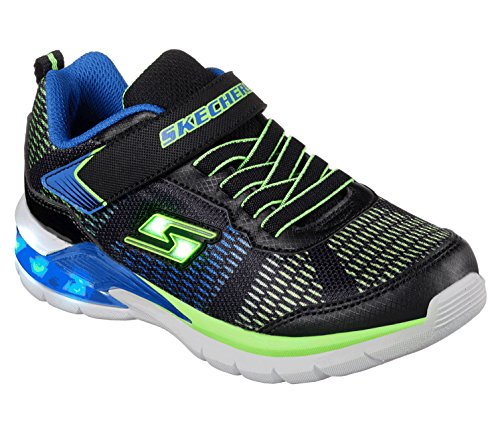 Skechers Jungen Erupters Ii Sneaker, Schwarz (Black/Blue/Lime Bblm), 29 EU