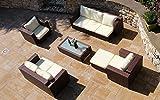Baidani Daylight Garten Lounge Garnitur, Braun, 192x150x60 cm