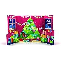 RITTER SPORT Pop-Up Adventskalender (319 g), Weihnachtskalender zum Aufklappen & Hinstellen, mit 26 minis und Schokowürfeln, in 12 Sorten, süße Adventsdeko