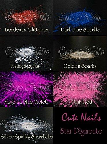 Pigment - Produit Cosmétique Couleur pigments - Star Pigment Diamond Dust - Magenta fin Rose Violet - Cute Nails