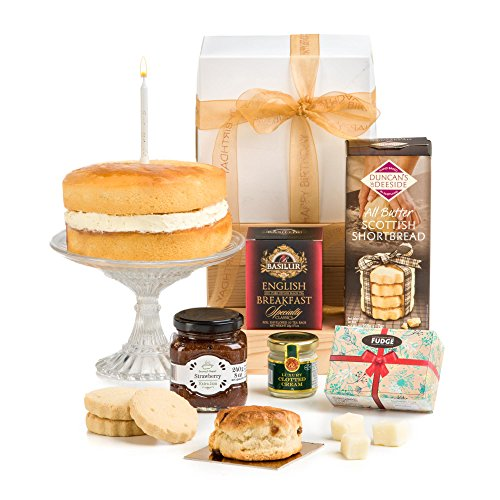Hay Hampers- Birthday Afternoon Tea Hamper In Giftbox with Birthday Cake