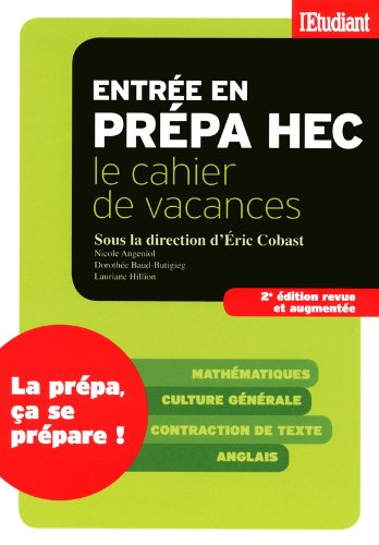 Cahier de vacances Prépa HEC
