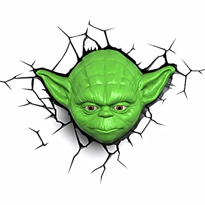 Yoda Face 3D FX LED Deco Light (Star Wars) by 3D Light FX produced by 3D Lights - quick delivery from UK.