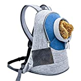XBECO Dog Carrier Zaino Cat Bag out Spalla Pet Borsa Gatto Borsa Pet Bag Sacchetto Portatile Sperone Regolabile Pet Bag di Trasporto Blu,M
