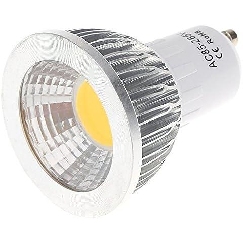 SODIAL(R)GU10 5W COB LED Faros Luces del bulbo Lampara Bombilla de alto rendimiento Ahorro de energia 85-265V Blanco calido