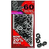 S4U Mega Large Pack 60 x Black Gutter Hooks, Free UK DELIVERY, Gutter Hook Multi Pack for Securing Lights to Guttering