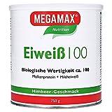 Megamax Eiweiß Himbeere. Molkenprotein + Milcheiweiß Eiweiss Protein mit Biologischer Wertigkeit ca. 100. Für Muskelaufbau und Diaet. Inhalt: 750 g