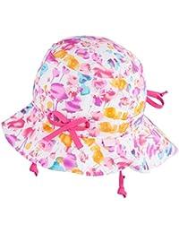 TuTu by Galeja Mädchen Sommerhut Flapper UV Schutz 30+ 100% Cotton Sonnenhut Gr. 48-50 + 52-54 Mädchenmütze
