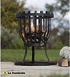 La Hacienda Alberta Black Steel Firebasket