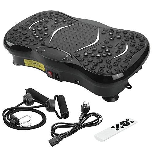 Plateforme Vibrante Oscillante, Evoland Pateforme Vibrante Professionnelle Home Vibration Mixte Plate Fitness avec Bluetooth Haut-Parleurs Musique, 150KG Capacité (INCL télécommande et Bandes élastiques d'entraînement, écran)