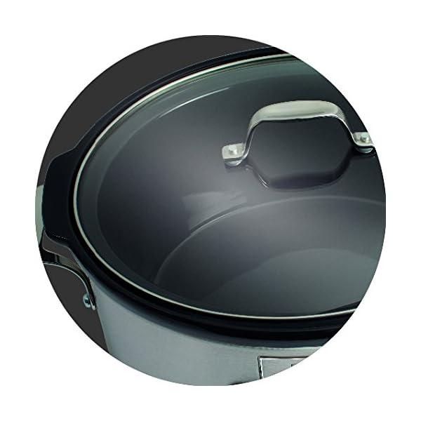 Electrolux ESC7400 Slow Cooker, Pentola Elettrica in Ceramica, Timer, 235 W, 6.8 Litri, 0 Decibel, Acciaio Inox, Argento 4 spesavip