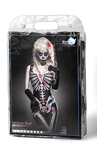 Halloween Kostüm Overall `Mexican Skull` by MASK PARADISE Fasching Karneval A80008 Schwarz/Bunt