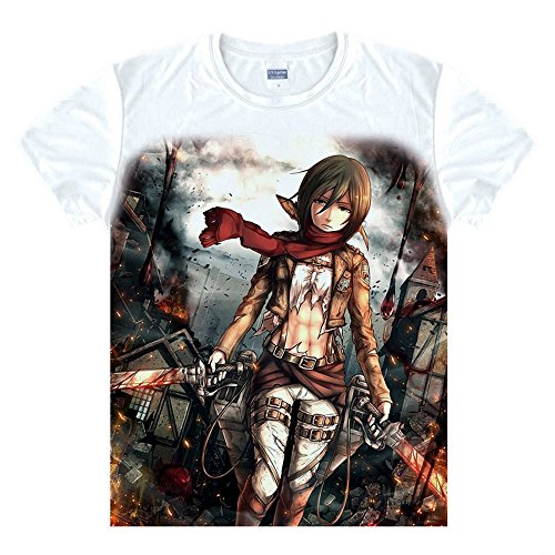 Attack on Titan Mikasa Ackerman T-Shirt Kostüm Cosplay ()