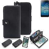 K-S-Trade 2in1 Handyhülle für Jiayu S3+ Schutzhülle & Portemonnee Schutzhülle Tasche Handytasche Case Etui Geldbörse Wallet Bookstyle Hülle schwarz (1x)