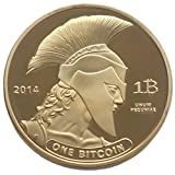 AmaMary Bitcoin Münze, 1 STÜCKE gold Europa stil Bitcoin Überzogene Titan Gedenkmünze Sammeln Physikalischen