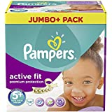 Pampers Premium Protection Active Fit Taille 5  + (Junior + ) 13–25 kg, Jumbo Plus Pack 58 couches, 1er Pack (1 ...