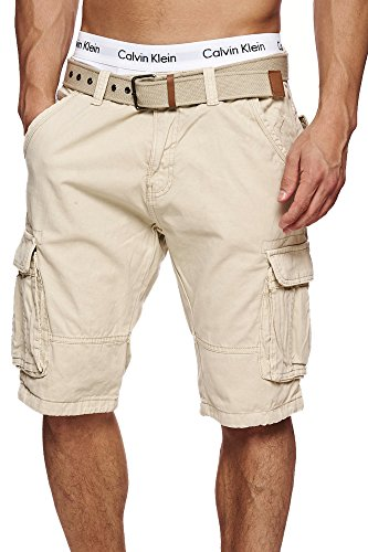 S!RPREME -  Pantaloncini  - cargo - Basic - Uomo beige S