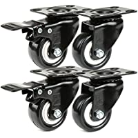 H&S® Ruedas para maleta, 4 unidades,resistentes hasta 200kg, 50mm, poliuretano, ruedas giratorias, caucho