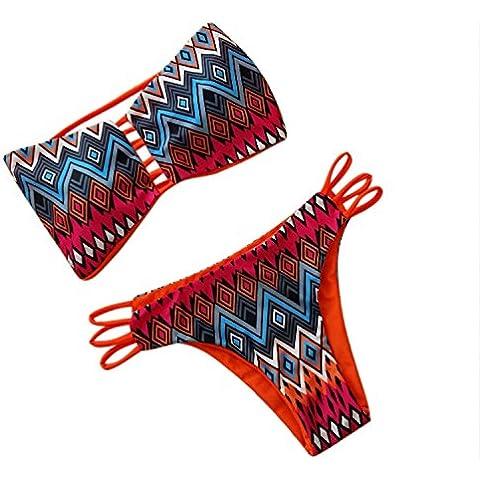Ularma 2016 Las mujeres bikiní vendaje empuja hacia arriba el acolchado traje de baño