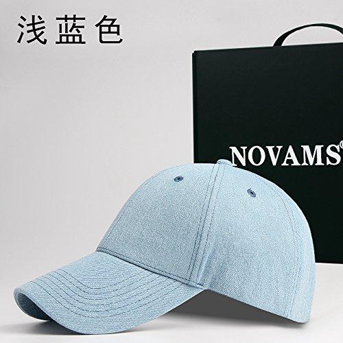 FQG*Autunno jeans e berretti da baseball uomini cotone colore solido cappuccio femmina piegare di base tende movimento tappo , luce blu