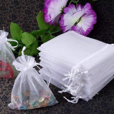 60X Neu Säckchen Geschenkbeutel Organza Schmuckbeutel