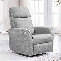 Sillón relax reclinable modelo Gold tejido Elegance color gris ceniza - SedutaHome