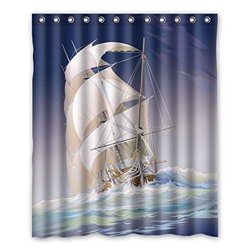 """152 cm x 183 cm (60 """"x72"""") Curtain Bagno Doccia, Offshore vela prevalente personalizzato Cartoon Logo Design, casual moda su misura tenda della doccia"""