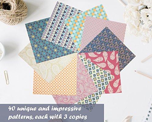 confronta il prezzo Set carta da origami - 120 fogli - tradizionale piegatura della carta giapponese - la carta include stampe a fiori, animali, azteche, geometriche - crea fiori, gru, gufi, draghi, animali - carta da origami per bambini ed adulti miglior prezzo