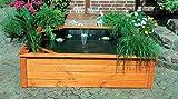 Terrassenteich 150x150cm 4 Pflanzzonen Hochteich Solarpumpe Teich