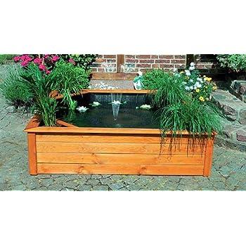 terrassenteich 150x150cm 4 pflanzzonen hochteich. Black Bedroom Furniture Sets. Home Design Ideas