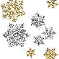 Teabelle - Plantilla para troquelar Copos de Nieve para Manualidades, álbumes de Recortes, Decoración de Repujado, Herramienta de Manualidades, 4 Piezas