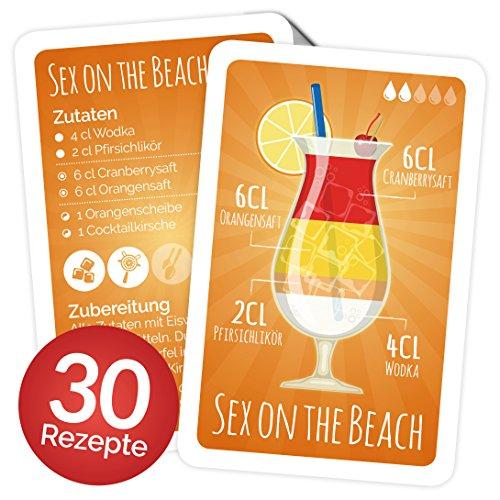 tail Rezepte auf Karten: 30 Cocktailrezepte und Erklärungen cellophaniert, Rezepte auf Deutsch, Kartenspiel Oder Quartett als Geschenk ()