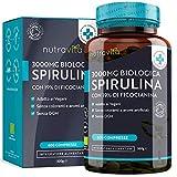 Spirulina Biologica 3000 mg con Ficocianina Grezza 19% - 600 Compresse Vegane - 500mg con Compresse - Prodotto biologico - Prodotto nel Regno Unito da Nutravita