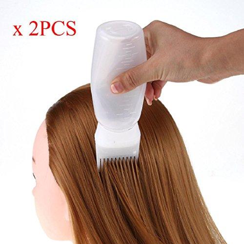 Applikator Flasche Haarfarbstoff Flasche Applikator Pinsel Dispensing Profi Salon Haarfarbe Färben Flasche Pinsel (Weiß) (Zip-rocker)