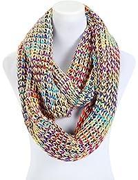 écharpe femme tube loop pour l'hiver multicolore grosse maille - couleurs différentes