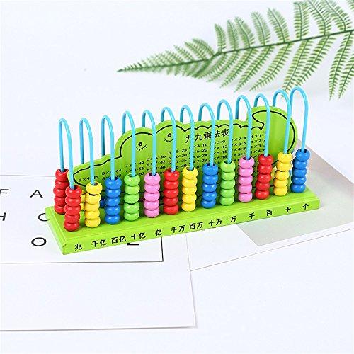 Frühe Entwicklungsaktivität Spielzeug Schüler Kinder Abacus Ental Arithmetik Kindergarten 13 Datei 10 Perlen Mathematik Berechnung Rack (zufällige Farbe) Perlen-rack
