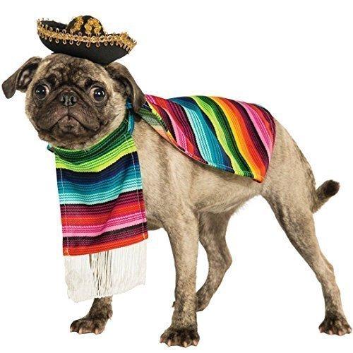 Haustier Hund Katze Mexikanischer Poncho & Sombrero-hut Kostüm Kleid Outfit Kleidung Kleidung S-XL - (Für Outfits Katzen Pet)