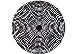 Marimekko - Tablett / Tray - FOKUS - Holz beschichtet - schwarz / weiß - Ø 46 cm