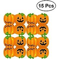 LUOEM Tovaglioli di zucca di Halloween Doppio strato Modello di zucca  Decorazioni per feste Regali di 29ad32fb4b34